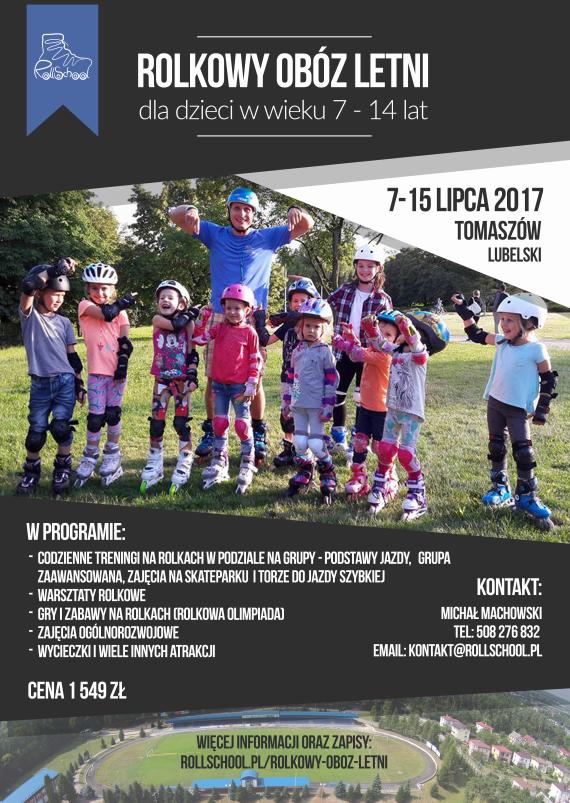 plakat - rolkowy oboz 2017 tomaszow lubelski